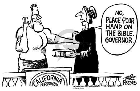 Mike Peters  Mike Peters' Editorial Cartoons 2003-10-10 recall