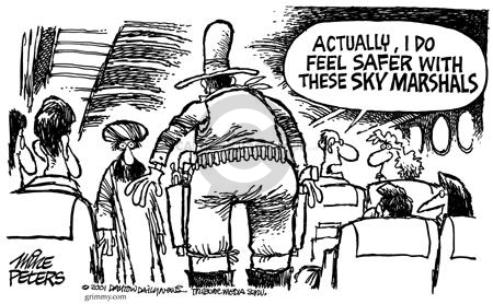 Cartoonist Mike Peters  Mike Peters' Editorial Cartoons 2001-10-19 police