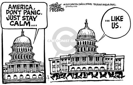 Cartoonist Mike Peters  Mike Peters' Editorial Cartoons 2001-10-22 fear