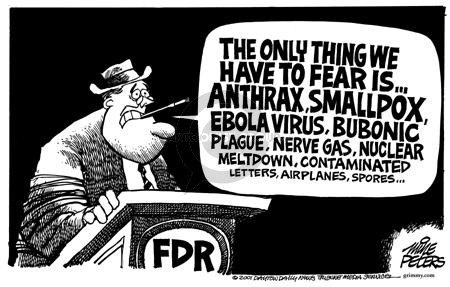 Cartoonist Mike Peters  Mike Peters' Editorial Cartoons 2001-10-24 fear