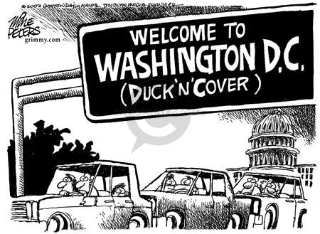 Cartoonist Mike Peters  Mike Peters' Editorial Cartoons 2002-10-24 afraid