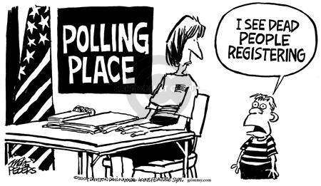 Mike Peters  Mike Peters' Editorial Cartoons 2004-10-24 voting rights