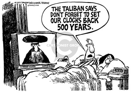 Mike Peters  Mike Peters' Editorial Cartoons 2001-10-28 bed