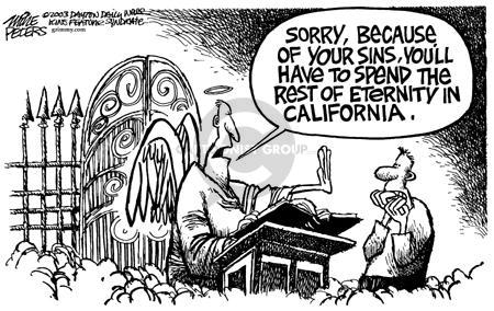 Cartoonist Mike Peters  Mike Peters' Editorial Cartoons 2003-10-30 devastation