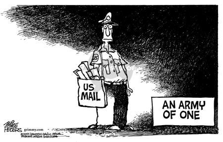 Cartoonist Mike Peters  Mike Peters' Editorial Cartoons 2001-10-31 defense
