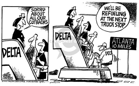 Cartoonist Mike Peters  Mike Peters' Editorial Cartoons 2005-09-22 business travel