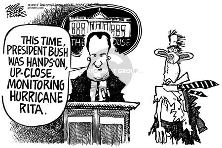Cartoonist Mike Peters  Mike Peters' Editorial Cartoons 2005-09-25 devastation