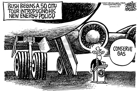 Cartoonist Mike Peters  Mike Peters' Editorial Cartoons 2005-09-30 contradiction