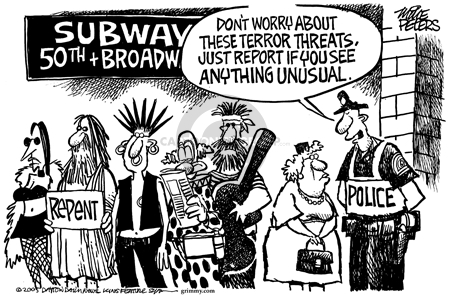 Cartoonist Mike Peters  Mike Peters' Editorial Cartoons 2005-10-09 New York City