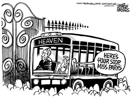 Mike Peters  Mike Peters' Editorial Cartoons 2005-10-27 Rosa Parks obituary