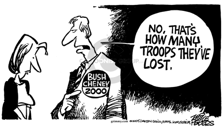 Cartoonist Mike Peters  Mike Peters' Editorial Cartoons 2005-10-28 2000 election