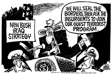 Cartoonist Mike Peters  Mike Peters' Editorial Cartoons 2005-12-02 insurgent