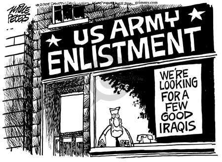 Mike Peters  Mike Peters' Editorial Cartoons 2005-12-09 army recruit