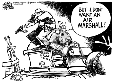 Cartoonist Mike Peters  Mike Peters' Editorial Cartoons 2005-12-11 airplane travel