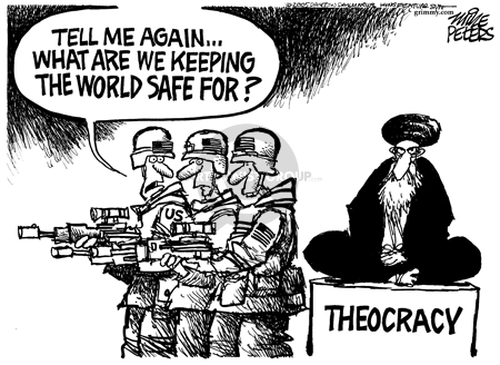 Mike Peters  Mike Peters' Editorial Cartoons 2005-12-30 Iranian election