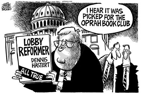 Cartoonist Mike Peters  Mike Peters' Editorial Cartoons 2006-01-14 political lobby