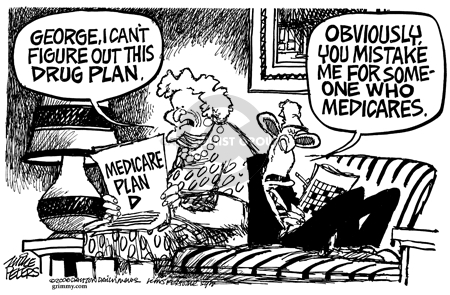 Cartoonist Mike Peters  Mike Peters' Editorial Cartoons 2006-01-20 care