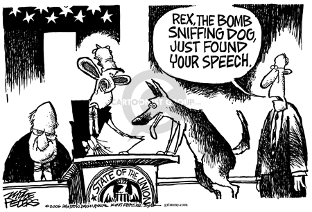 Cartoonist Mike Peters  Mike Peters' Editorial Cartoons 2006-02-02 state politician
