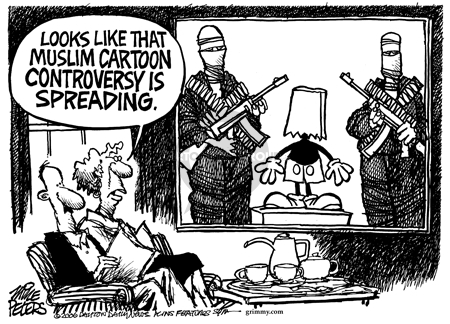 Cartoonist Mike Peters  Mike Peters' Editorial Cartoons 2006-02-10 extremism