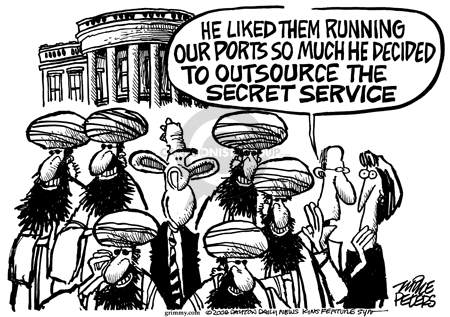 Cartoonist Mike Peters  Mike Peters' Editorial Cartoons 2006-02-25 outsource