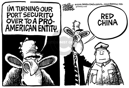 Cartoonist Mike Peters  Mike Peters' Editorial Cartoons 2006-03-11 China