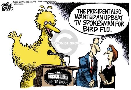 Cartoonist Mike Peters  Mike Peters' Editorial Cartoons 2006-04-29 national
