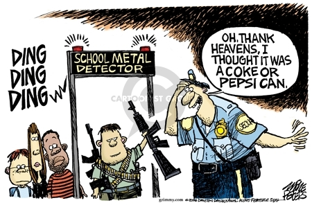 Cartoonist Mike Peters  Mike Peters' Editorial Cartoons 2006-05-07 gun rights