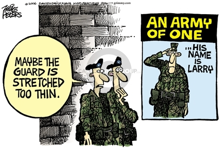 Mike Peters  Mike Peters' Editorial Cartoons 2006-05-19 army recruit