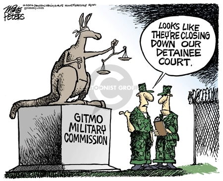 Gitmo Military Commission.  Looks like theyre closing down our detainee court.