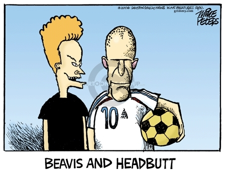 Cartoonist Mike Peters  Mike Peters' Editorial Cartoons 2006-07-14 World Cup