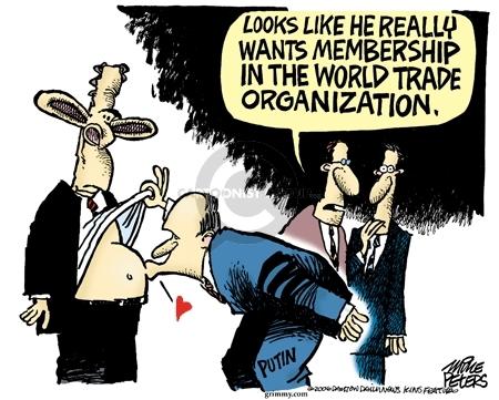 Cartoonist Mike Peters  Mike Peters' Editorial Cartoons 2006-07-15 trade