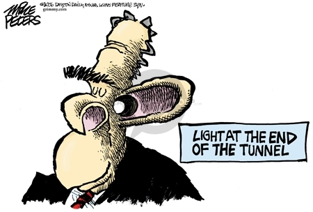 Cartoonist Mike Peters  Mike Peters' Editorial Cartoons 2006-08-25 tunnel