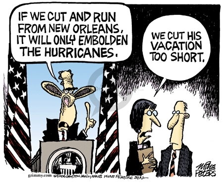 Cartoonist Mike Peters  Mike Peters' Editorial Cartoons 2006-09-02 Hurricane Katrina