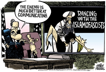 The enemy is better at communicating.  Dancing with the Islamofascists.