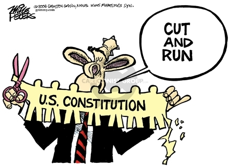 Cartoonist Mike Peters  Mike Peters' Editorial Cartoons 2006-10-15 Constitution
