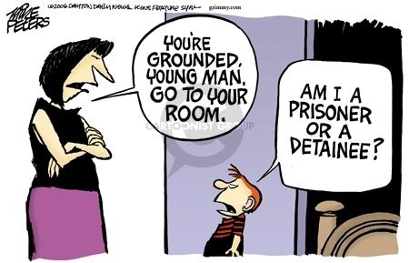 Cartoonist Mike Peters  Mike Peters' Editorial Cartoons 2009-09-01 prison