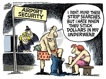 Cartoonist Mike Peters  Mike Peters' Editorial Cartoons 2006-10-29 security