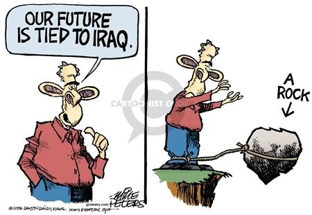 Cartoonist Mike Peters  Mike Peters' Editorial Cartoons 2006-12-29 Bush legacy