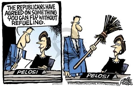 Cartoonist Mike Peters  Mike Peters' Editorial Cartoons 2007-02-10 airplane travel