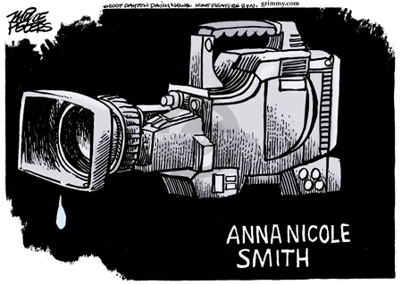 Mike Peters  Mike Peters' Editorial Cartoons 2007-02-11 Anna Nicole Smith