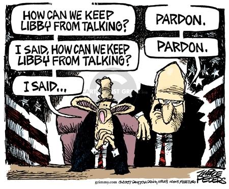 Cartoonist Mike Peters  Mike Peters' Editorial Cartoons 2007-03-10 CIA leak investigation