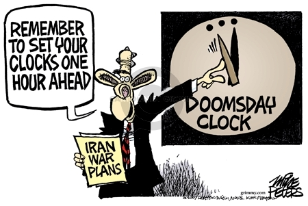 Cartoonist Mike Peters  Mike Peters' Editorial Cartoons 2007-03-11 nuclear weapon