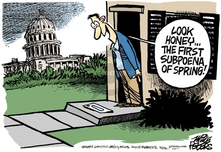 Cartoonist Mike Peters  Mike Peters' Editorial Cartoons 2007-03-23 George W. Bush congress