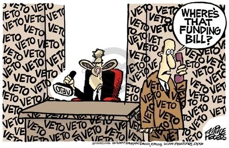Cartoonist Mike Peters  Mike Peters' Editorial Cartoons 2007-04-05 fund