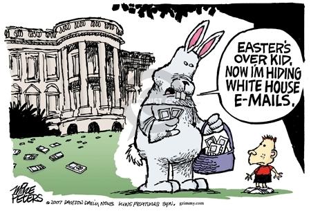 Cartoonist Mike Peters  Mike Peters' Editorial Cartoons 2007-04-15 bunny