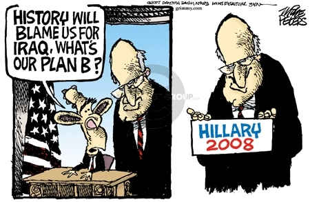 Mike Peters  Mike Peters' Editorial Cartoons 2007-04-22 exit strategy
