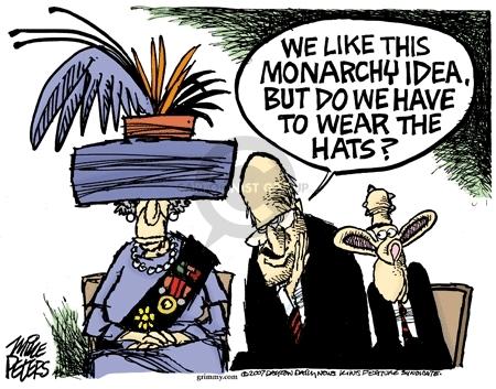 Cartoonist Mike Peters  Mike Peters' Editorial Cartoons 2007-05-04 Liz Cheney