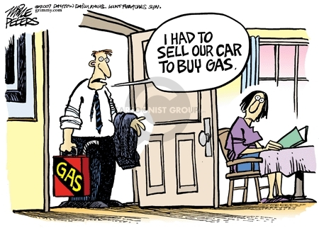 Mike Peters  Mike Peters' Editorial Cartoons 2007-06-21 gas price