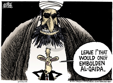 Leave?  That would only embolden Al-Qaida.