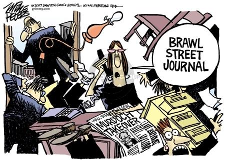 Cartoonist Mike Peters  Mike Peters' Editorial Cartoons 2007-08-01 business